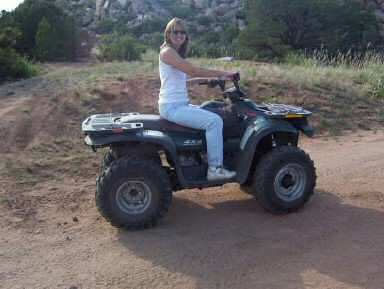 We use ATV's to get to remote spots